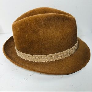 VTG Resistol camel tan fedora hat 7 1/8